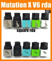Wholesale best rebuildable dripping atomizer for sale - Group buy Mutation X V6 RDA Atomizer Metal Material Thread Rebuildable Coil Replaceable With Wide Bore Drip Tip New Best ATB324