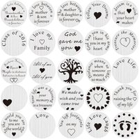 Wholesale designs floating charms - Wholesale-20pcs lot Mix Design Stainless Steel Floating Locket Back plate Floating Plate For Living 30mm Locket