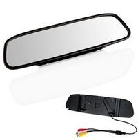 telas lcd para carros venda por atacado-4,3 polegadas TFT Car Monitor Espelho Retrovisor Auto LCD Screen Backup Camera para carro invertendo Record