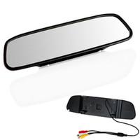 lcd bildschirme für autos großhandel-4,3 Zoll TFT Auto Monitor Spiegel View Rearview Auto LCD Bildschirm Rückfahrkamera für Auto Rückfahraufzeichnung