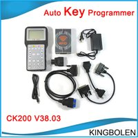 Wholesale Greek Maker - V38.03 CK-200 CK200 Auto Key Programmer No Tokens Limitation Newest Generation Updated Version of CK100 car Key maker DHL Free shipping