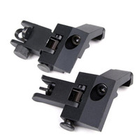 Wholesale Sight 45 Degree - Funpowerland High quality Funpowerland Front and Rear flip up 45 Degree Rapid Transition Backup Iron Sight Free Shipping
