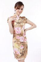 Wholesale chinese traditional cotton printed dress resale online - high quality cheap cheongsam cotton qipao Low profit Chinese Style vintage chinese traditional Dress color JY067