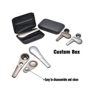 Wholesale Metal Pots - New Arrival Exquisite Metal Smoking Pipe with Large Volume Tobacco Pot Shipping with Tobacco Case