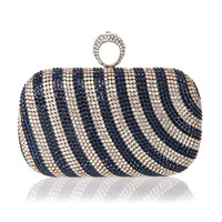 taschen mini diamant großhandel-Neue Mini Fingerring Handtasche Diamant Strass Handtasche Abend Bankett Kristall Geldbörse Schöne Braut Party Geldbörse