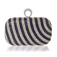 ingrosso sacchetti mini diamante-Nuova borsa mini dito anello borsa strass diamante strass sera banchetto borsa di cristallo bella borsa del partito della sposa