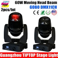 Atacado-Melhor Preço 2pcs / lot 60W Led Moving Head Raio de Luz, DMX 512,11Channels feixe de luz LED Head, ângulo de feixe movente 15 graus Led Moving Light
