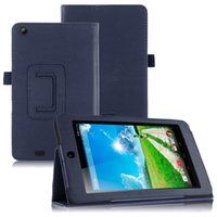 """Wholesale Cover Tablet Acer Iconia B1 - Wholesale-For Acer Iconia One 7 B1-730HD 7.0"""" Tablet Folio PU Leather Stand Tablet Case Cover Free Shipping"""