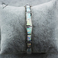 Wholesale Platinum Plated Silver Bracelet - New Design Fire Opal Bangles Platinum Plated Silver Bracelets Jewelry For Women Pulseiras Lovers Gift Pulseras SZ004