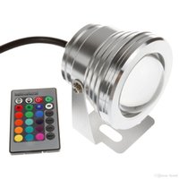 Wholesale Fountain Remote Control - 10W RGB Floodlight Light Underwater LED Flood Light Swimming Pond Pool Spot Lamp Outdoor Waterproof Lighting with Remote Control DC 12V