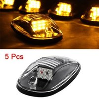 5pcs Clear Amber LED Upper Peak Fuoristrada JEEP Pickup Roof Top Running Lights Lampade