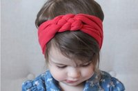 Wholesale Cute Headbands Handmade - Handmade Cheap Fashionable Cute Knot Toddler Baby Girl's Headband Headwrap Hair Accessories for Every Occassion 5 Colors