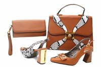 Wholesale fashionable classic pu leather for sale - Italian Shoes matching Bag fashionable shoes and bag set high quality and hot sale hot sale