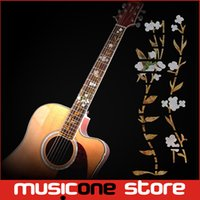Wholesale Fret Inlay - Guitar Inlay Stickers Elegant White Shell Flowers Guitarra Fretboard Decals Markers For Guitar Fret Neck MU1288-8