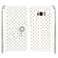 Bling Rhinestone Diamond Leather Flip Wallet Case Cover para Samsung Galaxy S8 S8 Plus S7 S6 Edge S5 S4 S3 Stand Card Holder Phone Case