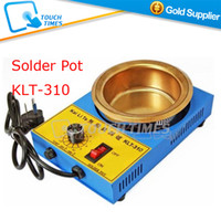 Wholesale Tin Solder Pot - Wholesale-Free Shipping 220V KLT-310 300W Solder Pot Stannum   Tin Furnace Unleaded Melting Furnace