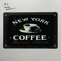 DL-NEW YORK COFFEE !! Vintage Tin Signs Coffee Decor для домашнего клубного клуба CAFE Hotel Antique Metal Painting