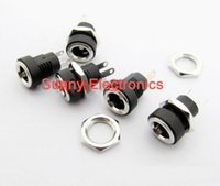 Wholesale 12v Electrical Panel - 500pcs 3A 12v for DC Power Supply Jack Socket Female Panel Mount Connector 5.5mm 2.1mm Plug Adapter 2 Terminal types