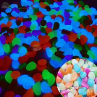 ingrosso rocce paesaggistiche-Serbatoio di pesci all'ingrosso Glow acquario serbatoio di pesci decorativi paesaggistici ciottoli luminoso luminoso pietra luminosa roccia 100g pietra luminosa