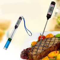 Wholesale food thermometer free resale online - LCD Digital BBQ Thermometer Cooking Food Probe Meat Thermometer Kitchen Instant Digital Gauge Heat Indicator