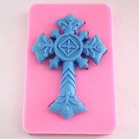 Wholesale Silicone Mould Resin - Retro Cross Fondant Cake Chocolate Silicone Mold Cake Decoration Tools,L9.2cm*W6.1cm*H1.1cm clay resin mould wholesale