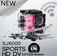 Wholesale Motor Dvr - Action Camera Full HD DVR Sport DV SJ6000 wifi version 30m Wifi control 1080P Helmet Waterproof Camera Motor Mini DV SJ6000 Car Dvr