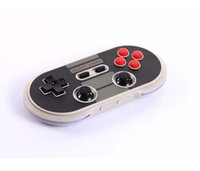 joystick duplo pc sem fio venda por atacado-Original 8Bitdo NES30 Pro Gamepad Sem Fio Bluetooth / USB Connect Controller Dual Joystick Clássico para iOS Android PC Mac Linux