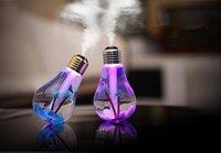 lâmpadas led usb venda por atacado-Nova Lâmpada Umidificadores de Ar USB Umidificador Ultra-sônico Escritório Em Casa Mini Purificador De Ar Atomizador Colorido LED Night Umidificador