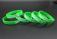 Wholesale Rubber Wristbands Bracelets Personalized - 100PCS Lot Customized Screen printing 1 color Personalized Words Rubber Wristbands For Gifts SC001