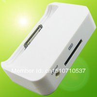 Wholesale Dock Charger Station 4s - Wholesale-DOCK DATA SYNC POWER CHARGER CRADLE STATION BASE For Apple iPhone 4G 4 4S #9505 13cxEZ