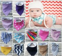 Wholesale Dot Stripe Baby - Infant Baby Stripe Dots burp Kids Bib Burping Cotton Bandana Bibs 2016 Baby Boy Girl Burp Cloths Baby Waterproof Bib kids accessories