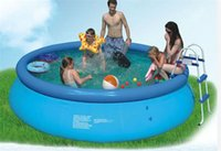 Wholesale Car Playing Pump - Kingtoy Inflatable Swimming Pool Summer Outdoor Toy team play for 1-5 person adult and children PVC with Electric Air Pump Toy