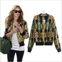 Wholesale Camouflage Womens Jackets - free shipping Womens Jackets and Coats Vintage Printing Camouflage women jacket manteau femme jaqueta feminina