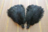 pena plumas preto venda por atacado-Atacado 100 pçs / lote Avestruz Penas de Penas AVESTRIPA preto para o Casamento peça central coetumes decoração do partido decoração do casamento