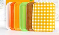 меламиновые плиты оптовых-Меламин посуда прямоугольные тарелки ресторан отель фаст-фуд хлеб торт пластиковый лоток красочные партии меламин фарфор, имитирующий пластины