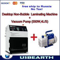 Wholesale Iphone Vacuum Machine - Free shipping to Russia,no Tax! vacuum oca lamination machine for iphone samsung lcd (No Need Remove Bubble)+Vaccum pump