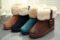 Wholesale Rabbit Fur Tanning - New Autumn Winter Women Short Boots faux fur Rabbit Fur Snow Boots Women's Shoes Snow Boots