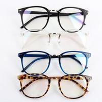 marcos de gafas unisex de metal redondo al por mayor-Unisex Tide Optical Glasses Round Frame Gafas Metal Arrow UV400 Lente Gafas
