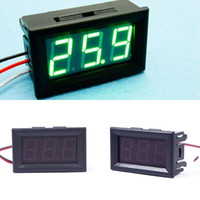 Hot DC 0-30V voltímetro Verde LED Painel 3-Digital Display medidor de tensão volt # 55836