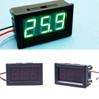 Hot DC 0-30V Voltmeter grüne LED Panel 3-Digitalanzeige Volt Spannungs-Messinstrument # 55836