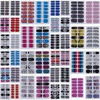3D beauty nails - Fashion Nail Stickers Mixed Styles Nail Art Stickers Beauty Finger Nails Decal DIY Decorations For Women Lady Girl set ZZV