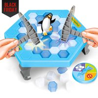 Wholesale Games Break - $60 OFF $300 Save Penguin Knock Ice Block Interactive Family Game Penguin Trap Puzzle Table Games Balance I Broken Ice Cubes Puzzle Toys