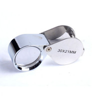 Wholesale loupe jewelers wholesale - Fast 360 PCS 30x 21mm Jewelers Eye Magnifying Glass Magnifier Loupe