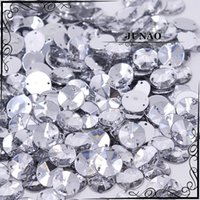 Wholesale Sew Clear Acrylic Rhinestones - Wholesale-10mm Clear Crystal Rivoli Rhinestone Sew On Flatback Acrylic Gems Round Strass Crystal Stones For Clothing Dress Decorations
