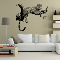 Wholesale Nature Wallpaper Poster Wall - New Tiger Leopard Waterproof Wall Stickers Creative DIY Personality Living Room Bedroom Decoration Removable Poster Wallpaper