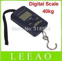 Wholesale Handy Hook - 500pcs lot # 40kg - 20g Weight Digital Scale Handy Scales Hanging Luggage Fishing Pocket Scale Hook Portable Free Shipping