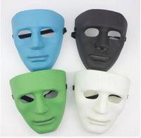 máscara azul verde preta venda por atacado-Moda BBOY Dança Máscaras Máscaras Faciais de PVC JabbaWockeeZ Preto Branco Azul Verde Cores Men ...