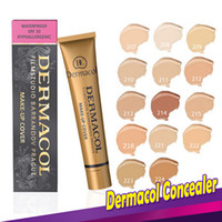 Wholesale Professional Foundations - Dermacol Concealer Foundation Make Up Cover 13 colors Primer DC Concealer Base Professional Face Dermacol Makeup Contour Palette Makeup Base