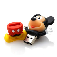 Wholesale Style 32gb Usb - New style Cute cartoon Mickey pendrive 4GB 8GB 16GB 32GB USB stick pendrive USB 2.0 u disk with boy and girl styles