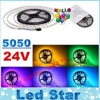 Decoration 24v rope lighting - 24V Led Strips Light Flexible Tape Lights LEDs m M LEDs SMD RGB Led Rope Lights M Reel Waterproof